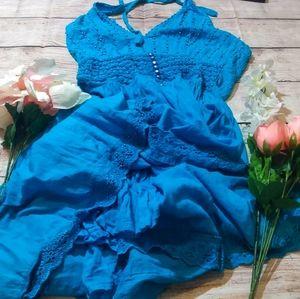 Blue beaded Karizma dress